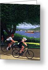 East Van Bike Ride Greeting Card by Neil Woodward