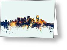 Edmonton Canada Skyline Greeting Card