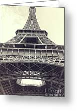 Eiffel Tower By The Seine Greeting Card
