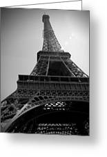 Eiffel Tower Under The Spotlight Greeting Card