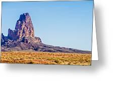 El Capitan Peak Just North Of Kayenta Arizona In Monument Valley Greeting Card