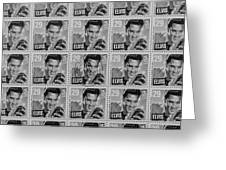 Elvis Commemorative Stamp January 8th 1993 Painted Bw Greeting Card