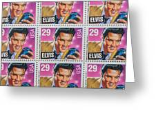 Elvis Commemorative Stamp January 8th 1993 Painted  Greeting Card