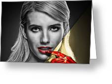 Emma Roberts Collection Greeting Card
