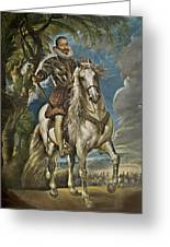 Equestrian Portrait Of The Duke Of Lerma Greeting Card