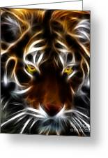 Eye Of The Tiger Greeting Card by Wingsdomain Art and Photography