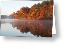 Fall Sunrise At Cox Hollow Lake In Governor Dodge State Park Greeting Card
