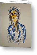 Female Face Study  C Greeting Card
