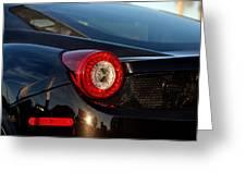Ferrari Tail Light Greeting Card