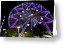 Ferris Wheel At The Texas State Fair In Dallas Tx Greeting Card