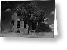 Film Homage Anthony Perkins Janet Leigh Alfred Hitchcock Psycho 1960 Vacant House Black Hills Sd '65 Greeting Card