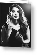 Film Noir Woman Greeting Card