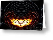 Fire Polar Coordinates Effect Greeting Card