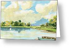 Fishing Lake Greeting Card