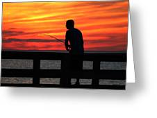 Fishing Pier Mount Sinai New York  Greeting Card