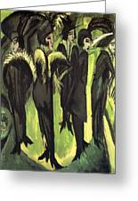 Five Women At The Street Greeting Card