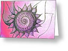 Flora Blushing Greeting Card