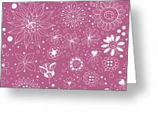 Floral Doodles Greeting Card