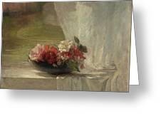 Flowers On A Window Ledge Greeting Card