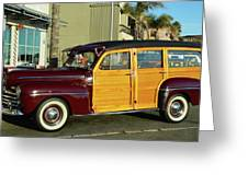 Ford California Woody Station Wagon Greeting Card