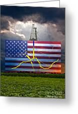 Fracking In The U.s Greeting Card