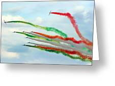 Frecce Tricolori Greeting Card