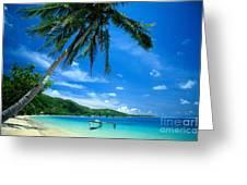 French Polynesia, Huahine Greeting Card