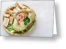 Fresh Crab Seafood Cream Mousse With Toast Tapas Snack Greeting Card