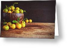 Fresh Kumquat Fruits Greeting Card