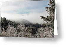 Frosty Pikes Peak Greeting Card
