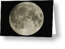 Full Moon Greeting Card by Eckhard Slawik