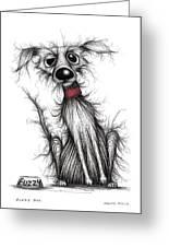 Fuzzy Dog Greeting Card