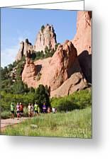 Garden Of The Gods Ten Mile Run In Colorado Springs Greeting Card