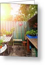 Garden Potting Table Greeting Card