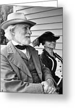 General Lee And Mary Custis Lee Greeting Card