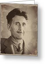 George Orwell 2 Greeting Card