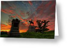Gettysburg East Cemetery Hill Sunrise Greeting Card