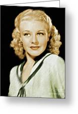 Ginger Rogers, Legend Greeting Card