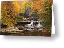 Glade Creek Grist Mill - Fall Greeting Card