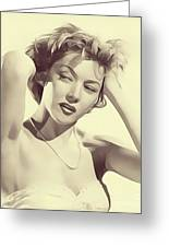 Gloria Grahame, Vintage Actress Greeting Card