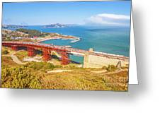 Golden Gate Bridge Vista Point Greeting Card