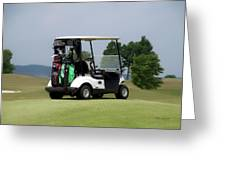 Golfing Golf Cart 04 Greeting Card
