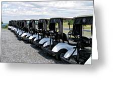 Golfing Golf Carts Greeting Card