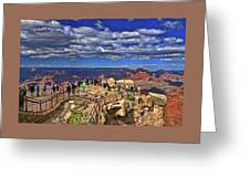 Grand Canyon #  4 - Mather Point Overlook Greeting Card