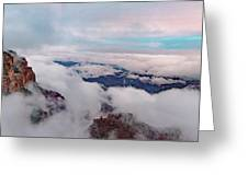 Grand Canyon Above The Clouds Greeting Card