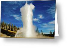 Grand Geyser Greeting Card
