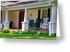 Grand Old House Porch Greeting Card