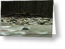 Granite And Water, Lynn Creek Greeting Card