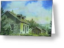 Granite Ghost Town Montana Greeting Card
