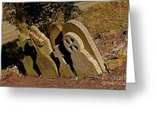 Grave Stones Greeting Card